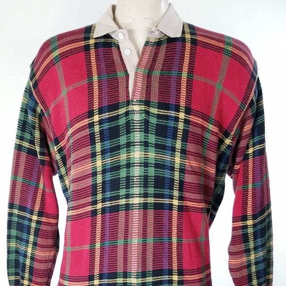 0a642abe Polo by Ralph Lauren Sweaters | Vintage Polo Sport Plaid Cotton Knit ...